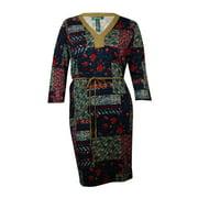 Lauren Ralph Lauren Women's Faux Suede Belted Knit Dress