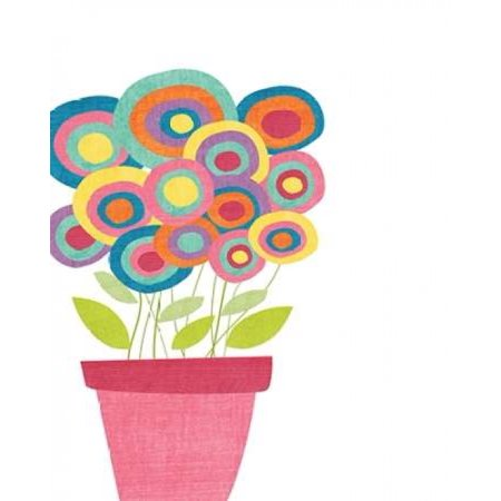 Lollipop Flower Pot Poster Print By Alli Rogosich