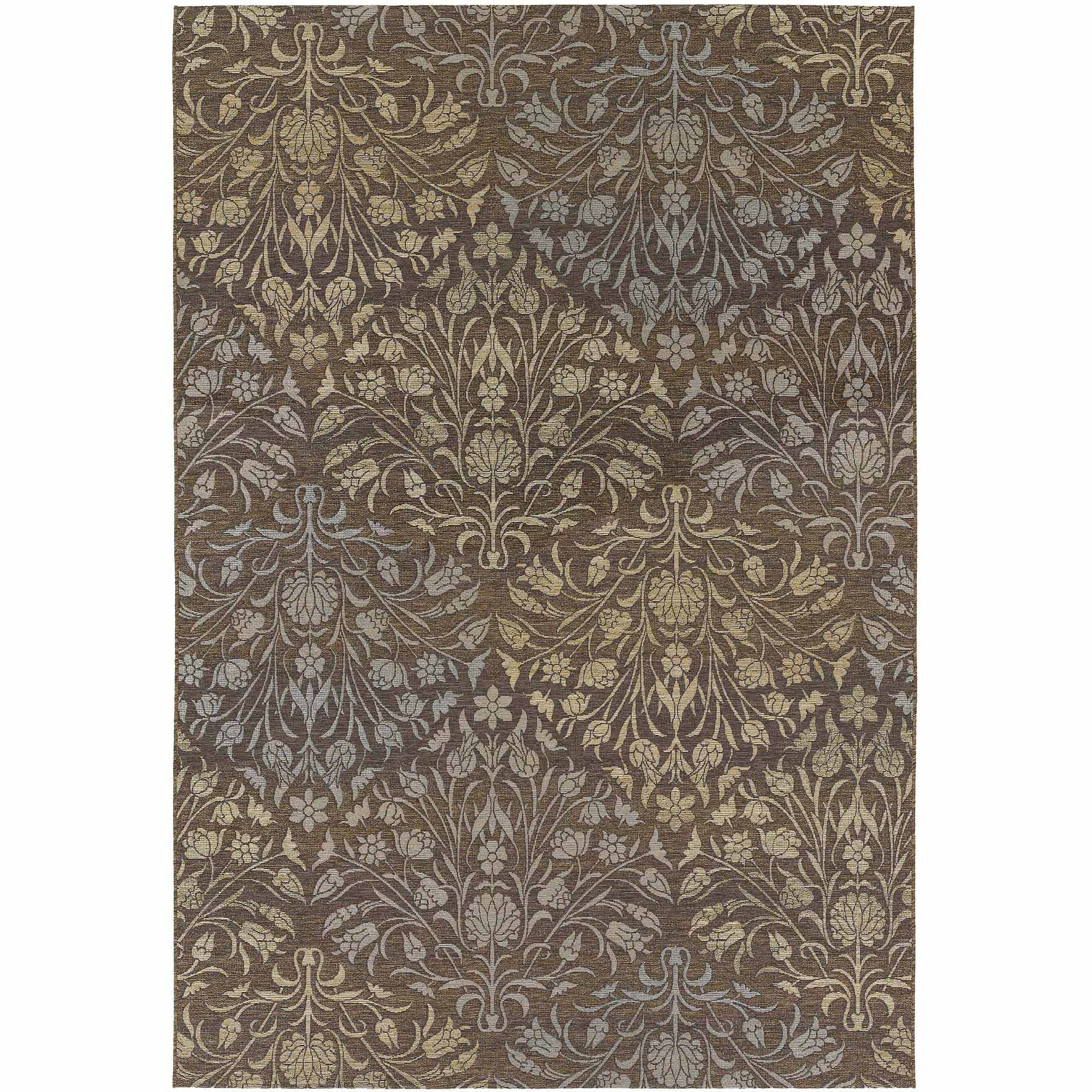 Couristan Dolce Coppola Flat Woven Indoor/Outdoor Rug, Brown and Beige, Multiple Sizes