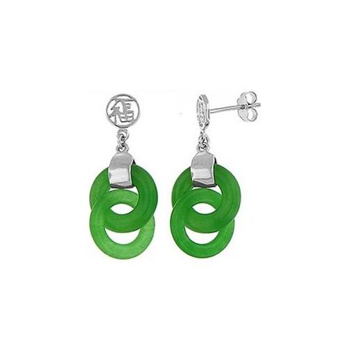 Doma Jewellery DJS02546 Silver and Jade - Moon Stone Earring
