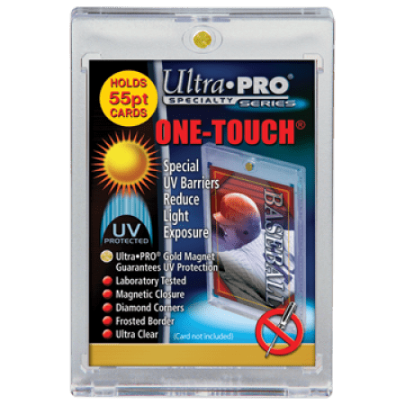One Touch UV Card Holder With Magnet Closure - 55pt Card Holder Magnet