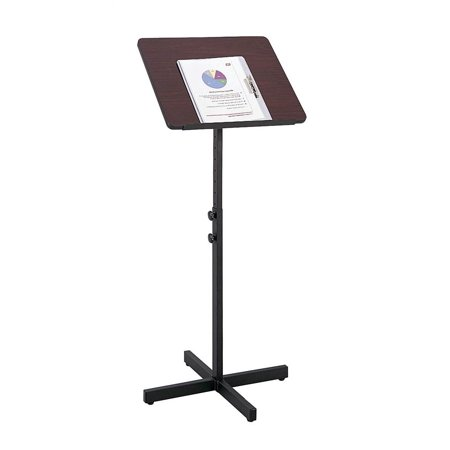 (Adjustable Speaker Stand in Mahogany)