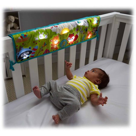 Fisher Price Twinkling Lights Crib Rail Soother Walmart Com