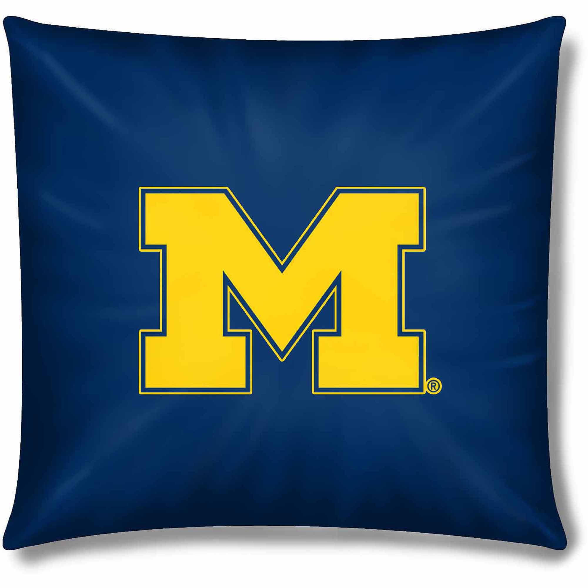 "NCAA Michigan Wolverines Official 15"" Toss Pillow"
