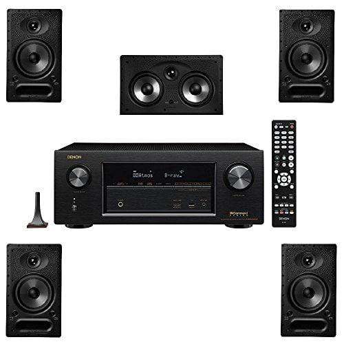 Polk Audio 65-RT 5 Channel Speaker Package and Denon AVR-X2300W AV Receiver by Polk Audio