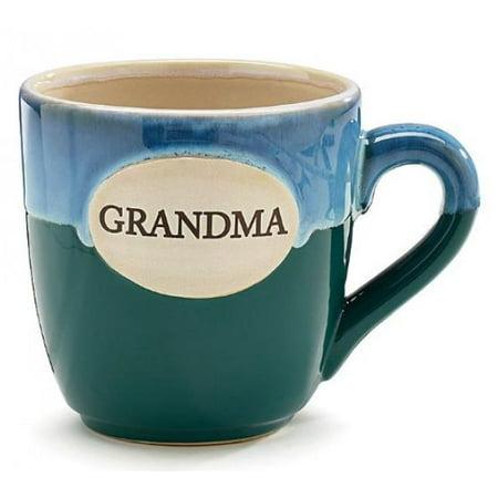 1 X Grandma Teal Porcelain Coffee Tea Mug Cup 16oz Gift Box