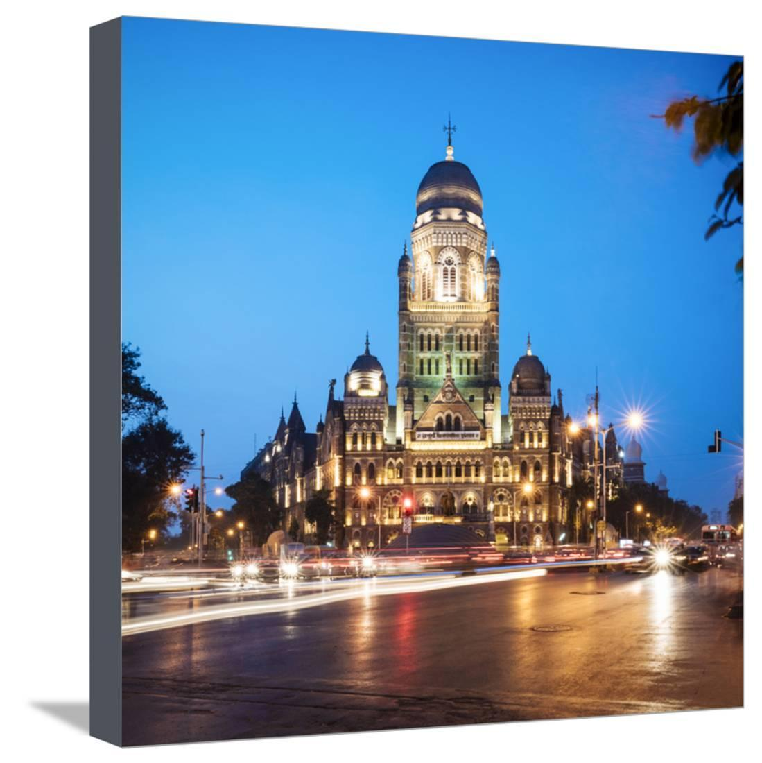Exterior of Mumbai Municipal Corporation Building, Mumbai (Bombay), India, South Asia Stretched Canvas Print Wall Art By Ben Pipe