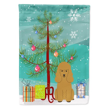 - Merry Christmas Tree Poodle Tan Garden Flag