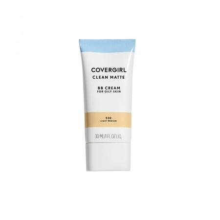 COVERGIRL Clean Matte BB Cream, 530 Light Medium, 1 fl oz
