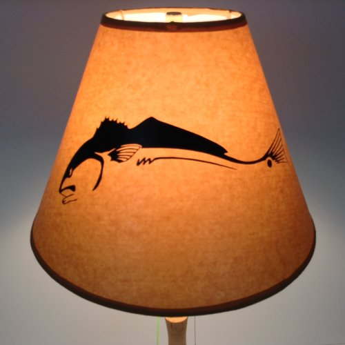 Millwood Pines Redfish 12'' Paper Empire Lamp Shade