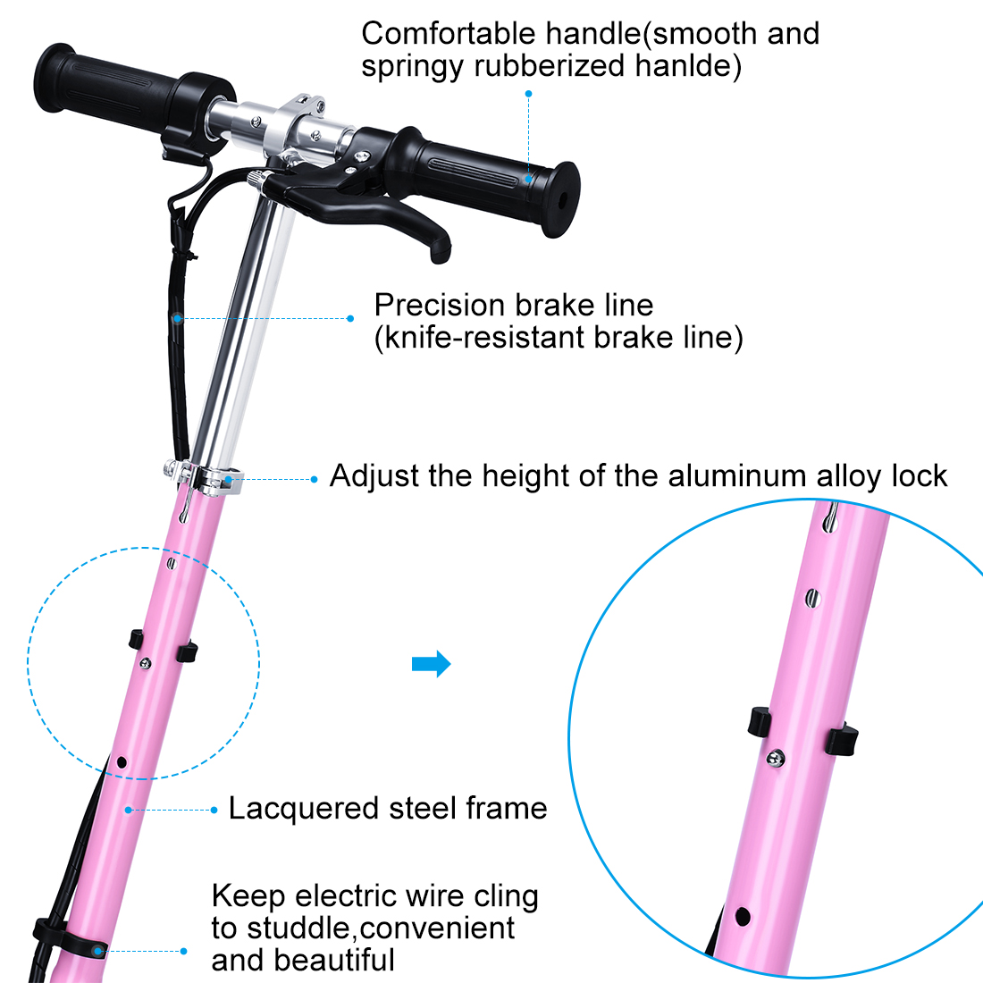 Sportsman Starter Wiring Contemporary Picturesque Pink Www Diagram For Motorized Bicycle Maxtra Astm Approved Electric Scooter Max Weight Capacity Bike Removable Seat Black 1100x1100