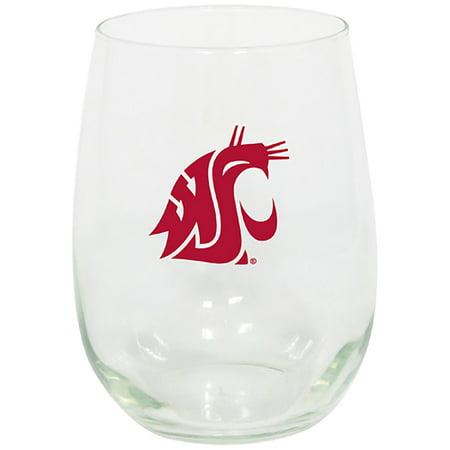 Washington State Cougars 15oz. Stemless Wine Glass - No Size