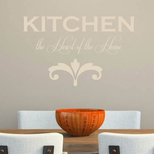 Decal the Walls Kitchen the Heart of the Home' Wall Decal