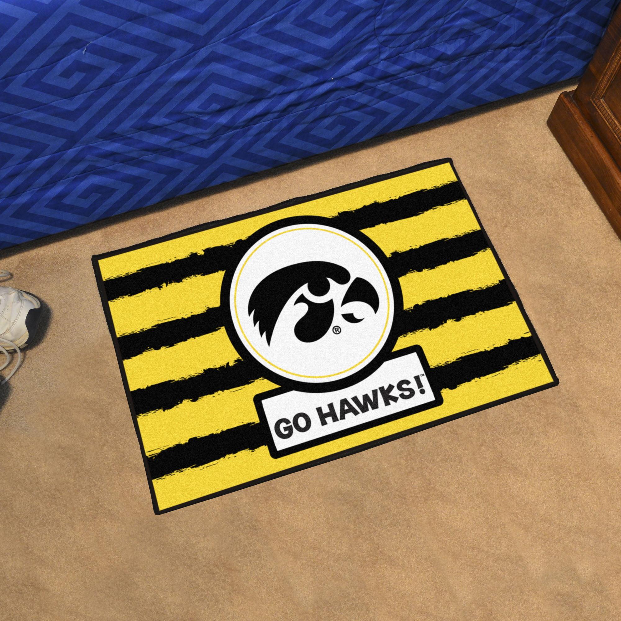 NCAA University of Iowa Hawkeyes Starter Mat Rectangular Area Rug