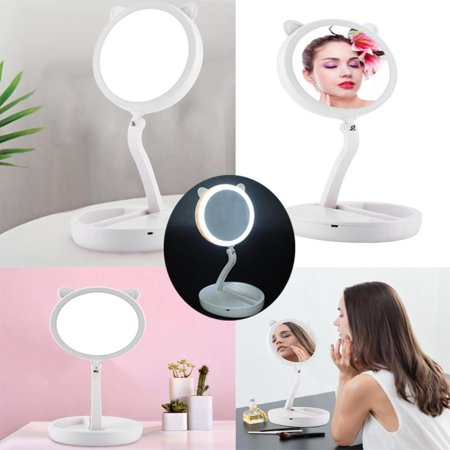 Yosoo Led Lighted Travel Folding Double Sided Vanity