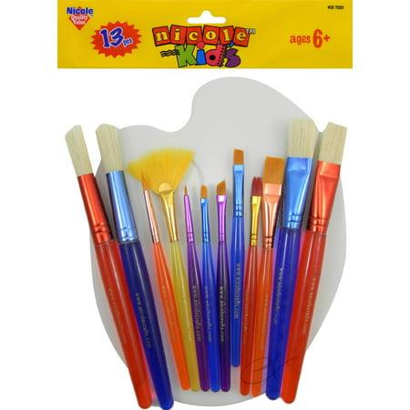 Young Artists' Brush Set 12 Brushes w/Bonus Mixing