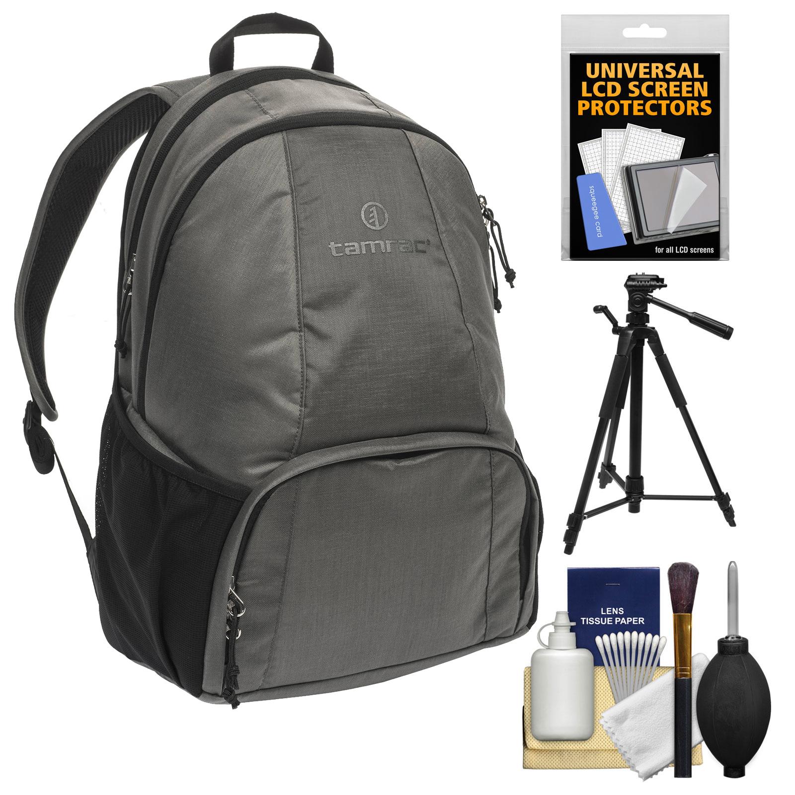 Tamrac Tradewind 24 Photo DSLR Camera Backpack Case (Slate Grey) with Tripod + Kit