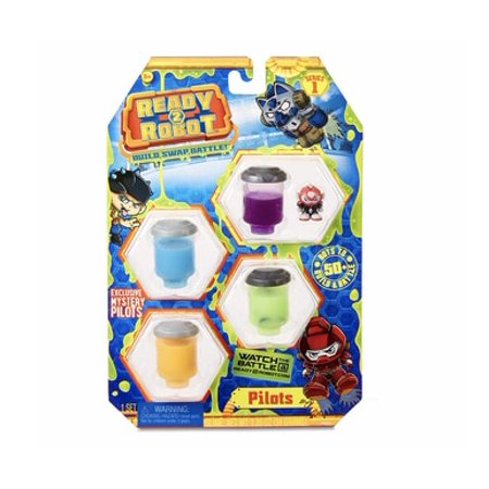 Ready to Robot Pilots Collectable Toy, Multicolor (style/color vary) (Style Robot)