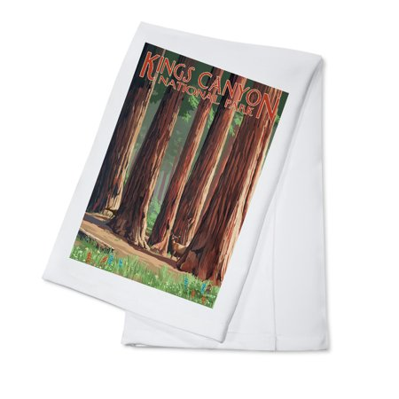 Forest Grove in Spring - Kings Canyon National Park, California - Lantern Press Poster (100% Cotton Kitchen Towel)