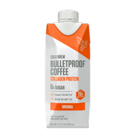 Bulletproof Cold Brew Coffee, Keto Friendly, Sugar Free, with Brain Octane MCT oil and Grass-fed Butter (12-pack)