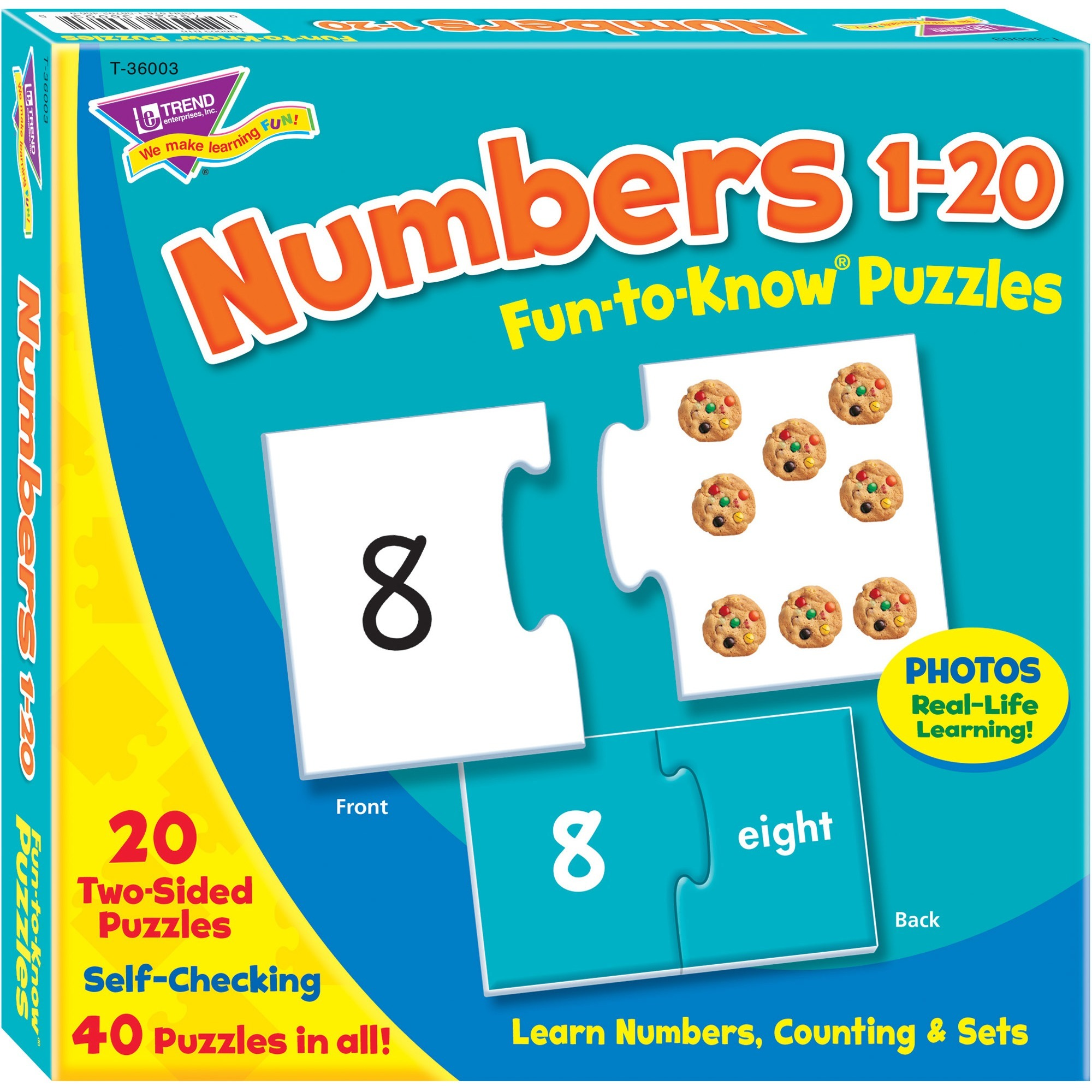 "Trend Fun-to-Know 3"" Numbers Puzzles by Trend enterprises, Inc"