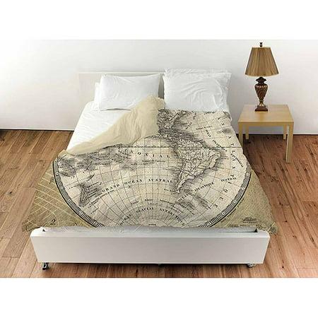 Thumbprintz French World Map 3 Duvet Cover  Walmartcom