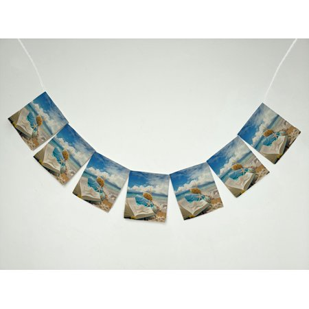 ZKGK Starfish on the Beach Banner Bunting Garland Flag Sign for Home Family Party Decoration (Banner On The Cheap)