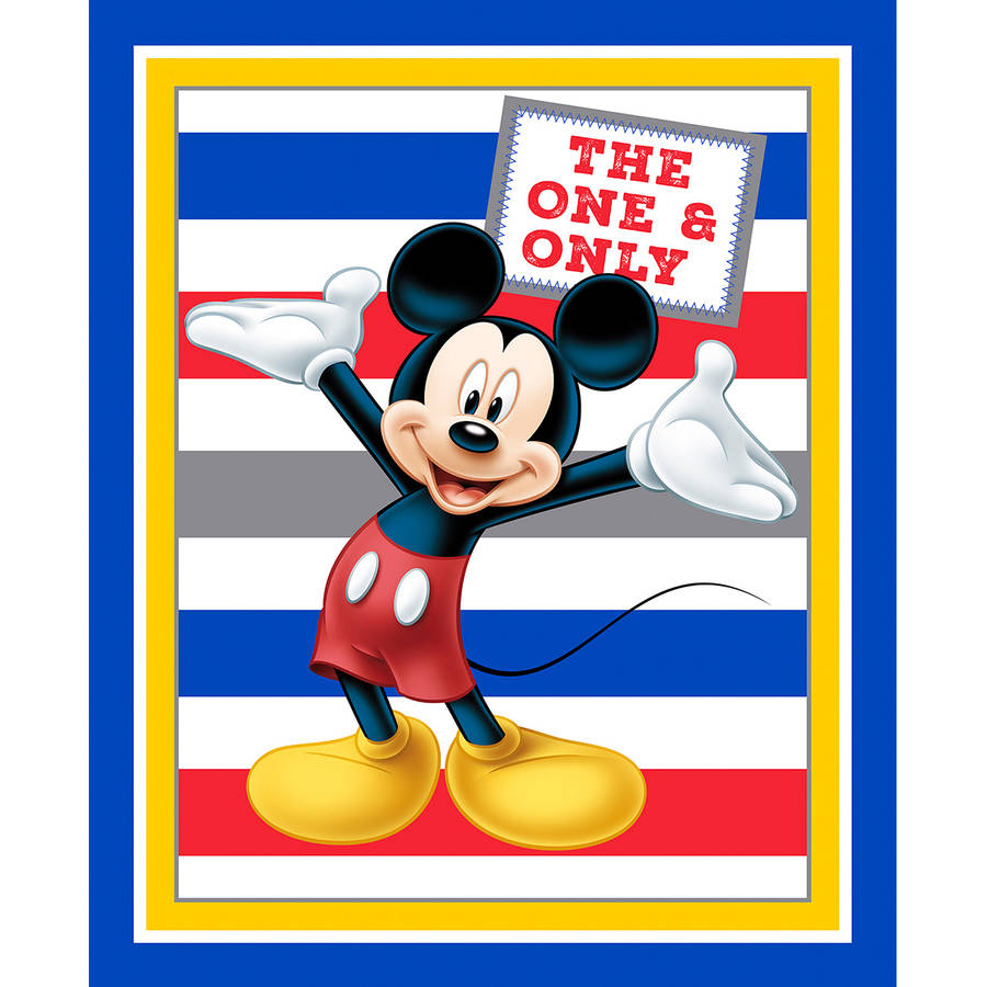 """Disney-Minnie Traditional 43/44"""" 100% Cotton 15yd D/R-Mickey With Stripes Panel"""