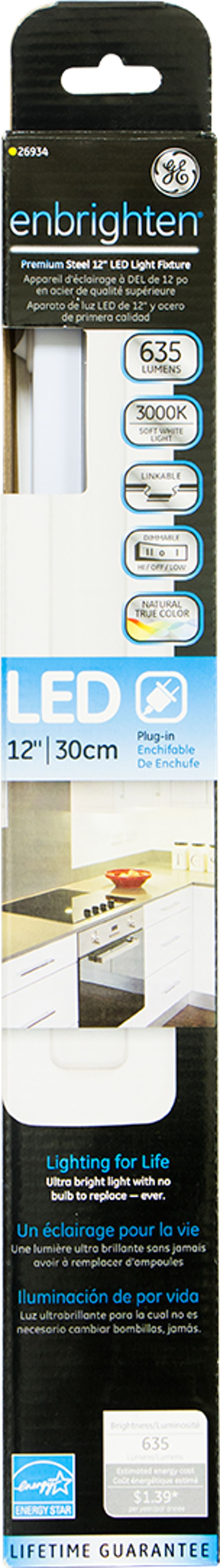GE Enbrighten Premium LED Plug-In 12-Inch Linkable Light Fixture, 26934 by Jasco Products Company, LLC