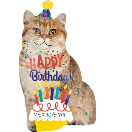 Birthday Cat Jumbo Foil Balloon (Jumbo Balloons)