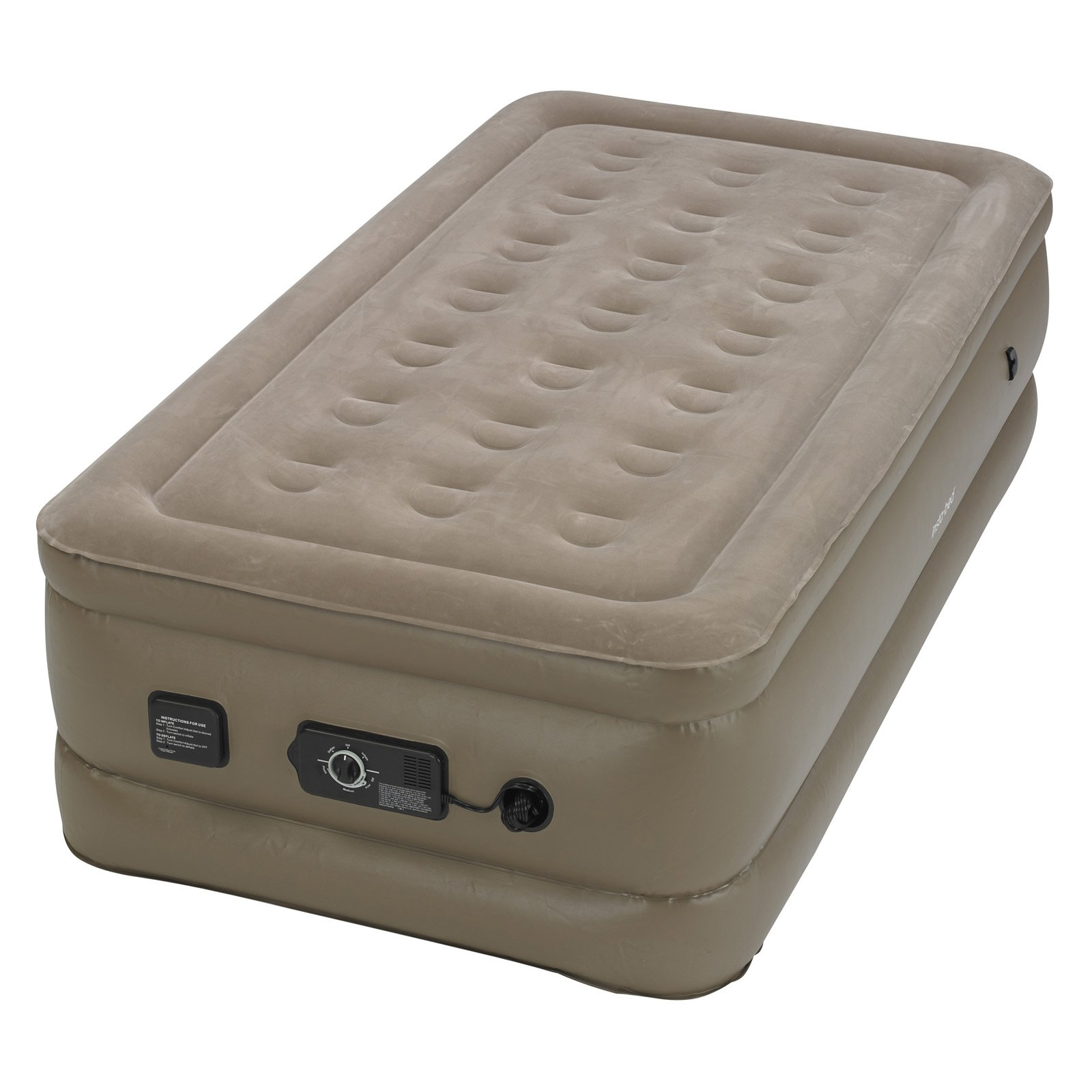 Insta-bed Raised Air Bed with NeverFlat AC Pump, Twin