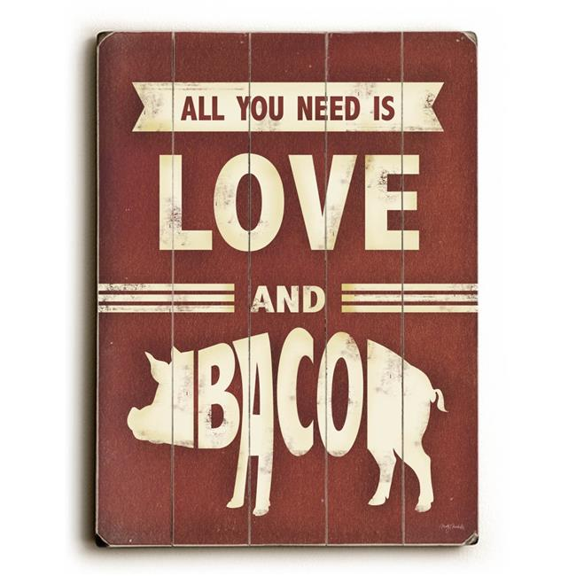 One Bella Casa 0004-4656-25 9 x 12 in. All You Need is Love & Bacon ...