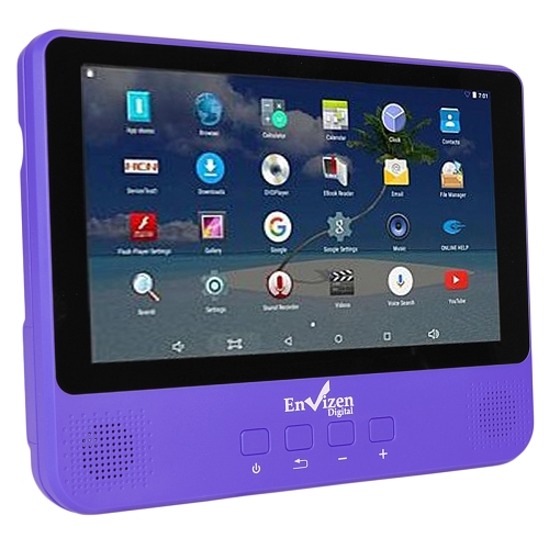 """Refurbished Envizen 9"""" WiFi Android Tablet & Portable DVD Player Quad Core 1GB 16GB"""