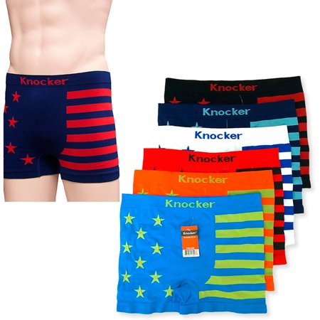 12 Men Seamless Boxer Briefs Knocker Microfiber Underwear Wholesale New MS036