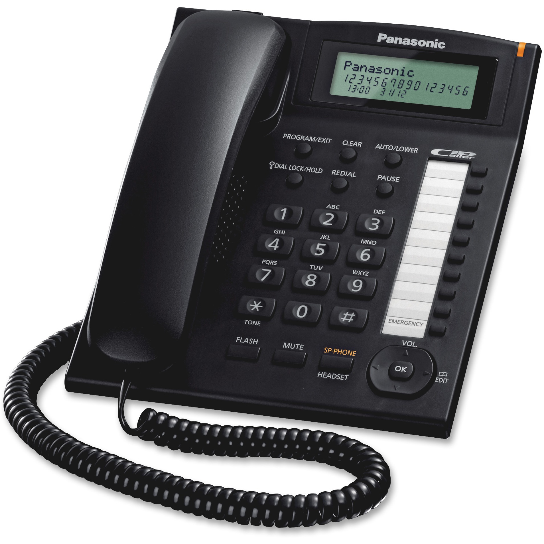 Panasonic, PANKXTS880B, 1-tch Dialer Stations Bus. Phone System, 1