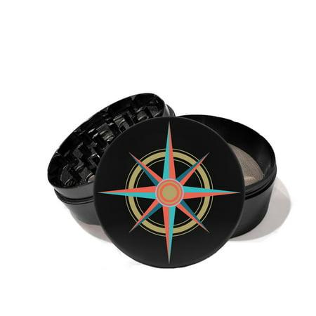 Navigation Nautical Compass Star - UV Printed Grinder