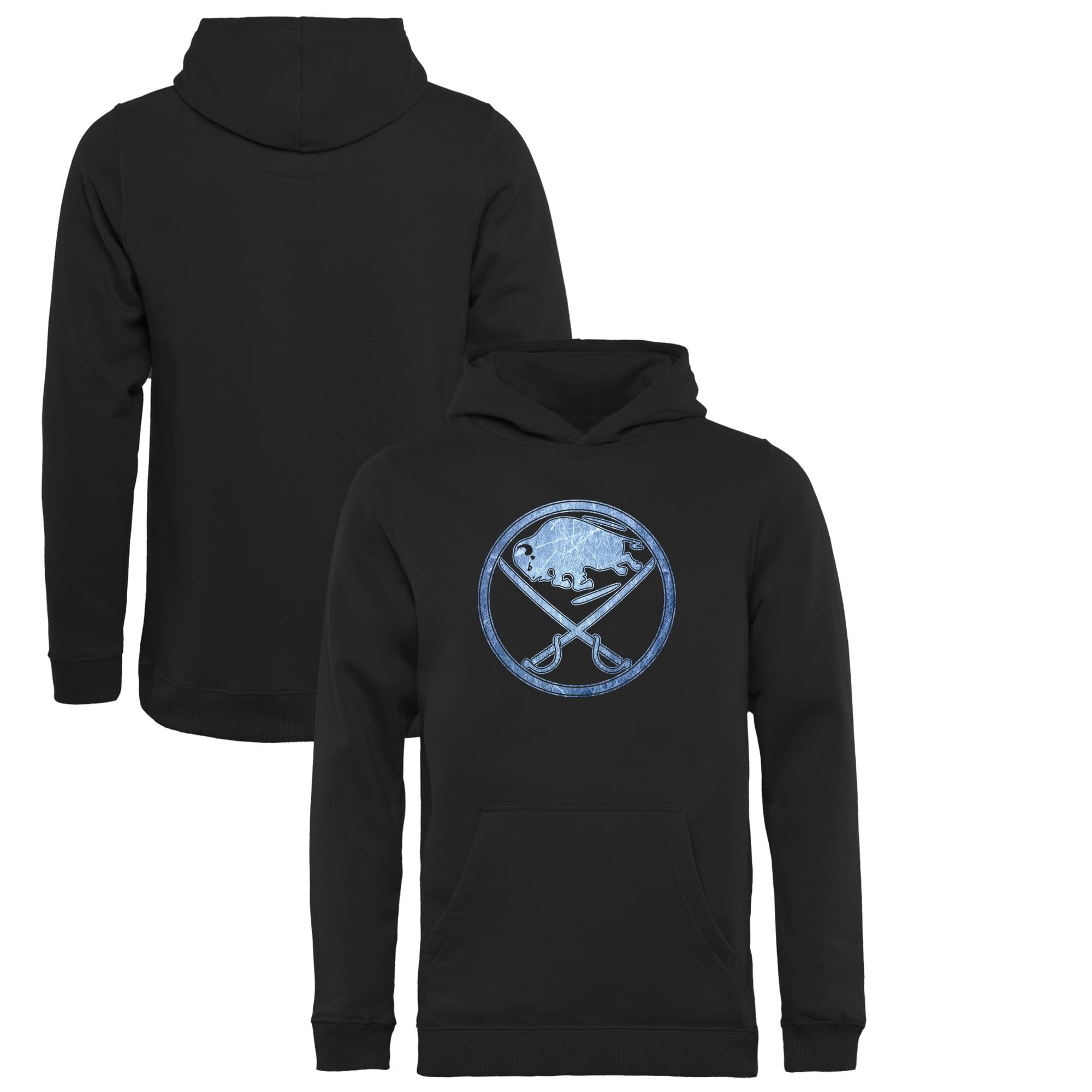Buffalo Sabres Youth Pond Hockey Pullover Hoodie Black by Football Fanatics/Ruppshirts