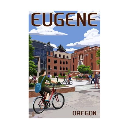 Eugene, Oregon - Campus Scene Print Wall Art By Lantern Press - Party City Eugene Oregon