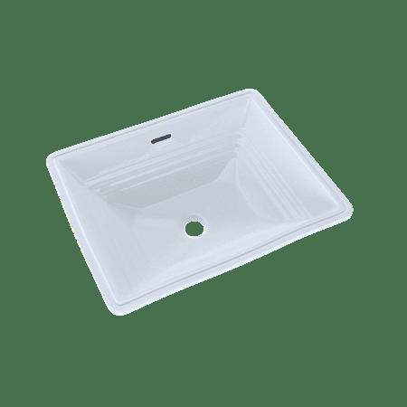 TOTO® Promenade® Rectangular Undermount Bathroom Sink, Cotton White - LT533#01 Square Undermount Bathroom Sinks