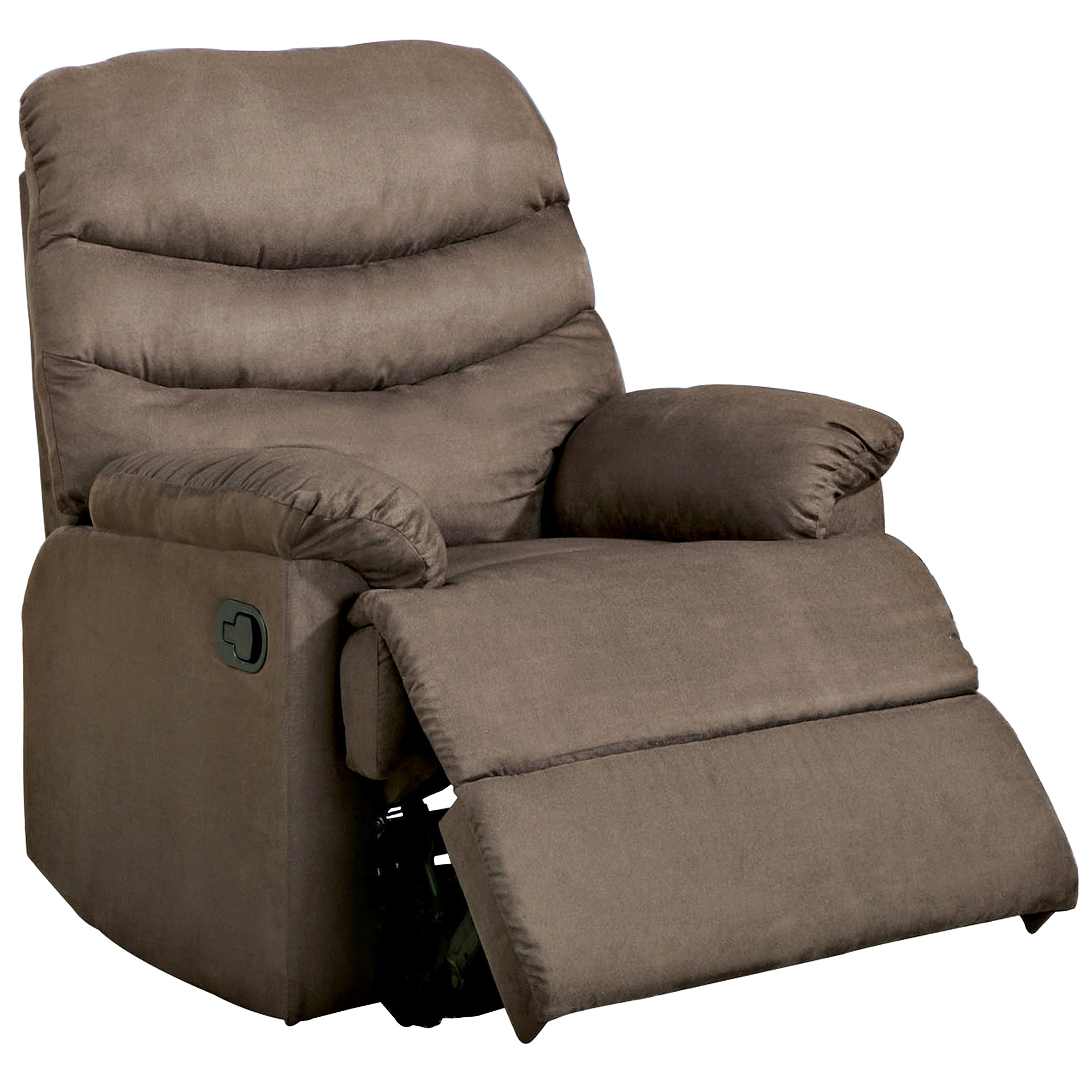 The Pleasant Valley Recliner In Light Brown Microfiber