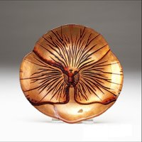 """PANSY 8.5"""" RED GOLD PLATE"""