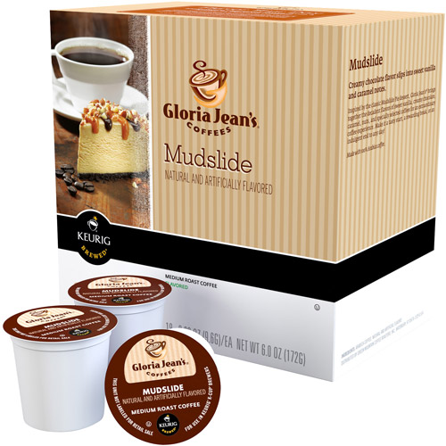 Gloria Jean's Mudslide Coffee K-Cups, 18 count, 6 oz