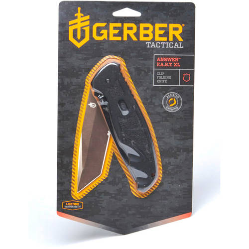 Gerber Answer FAST XL Serrated Tanto Blade Assisted Opening Knife