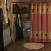 VHC Brand Ninepatch Star Shower Curtain 13624