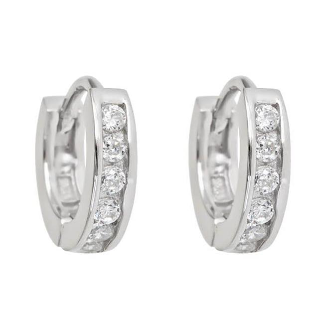 YGI GroupSHE100 Single Strand Micropave Huggies Earring with Cubic Zirconia