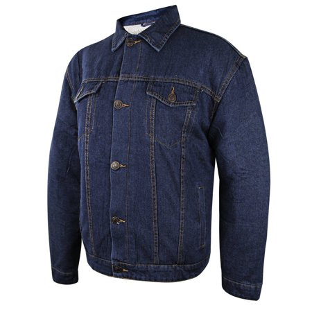 Casual Apparel Lada Traditional Mens Western Dark Blue Denim Jacket Dark Blue Small