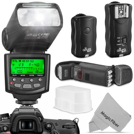 Altura Photo Professional Flash Kit for NIKON DSLR - Includes: I-TTL Flash (AP-N1001), Wireless Flash Trigger Set and