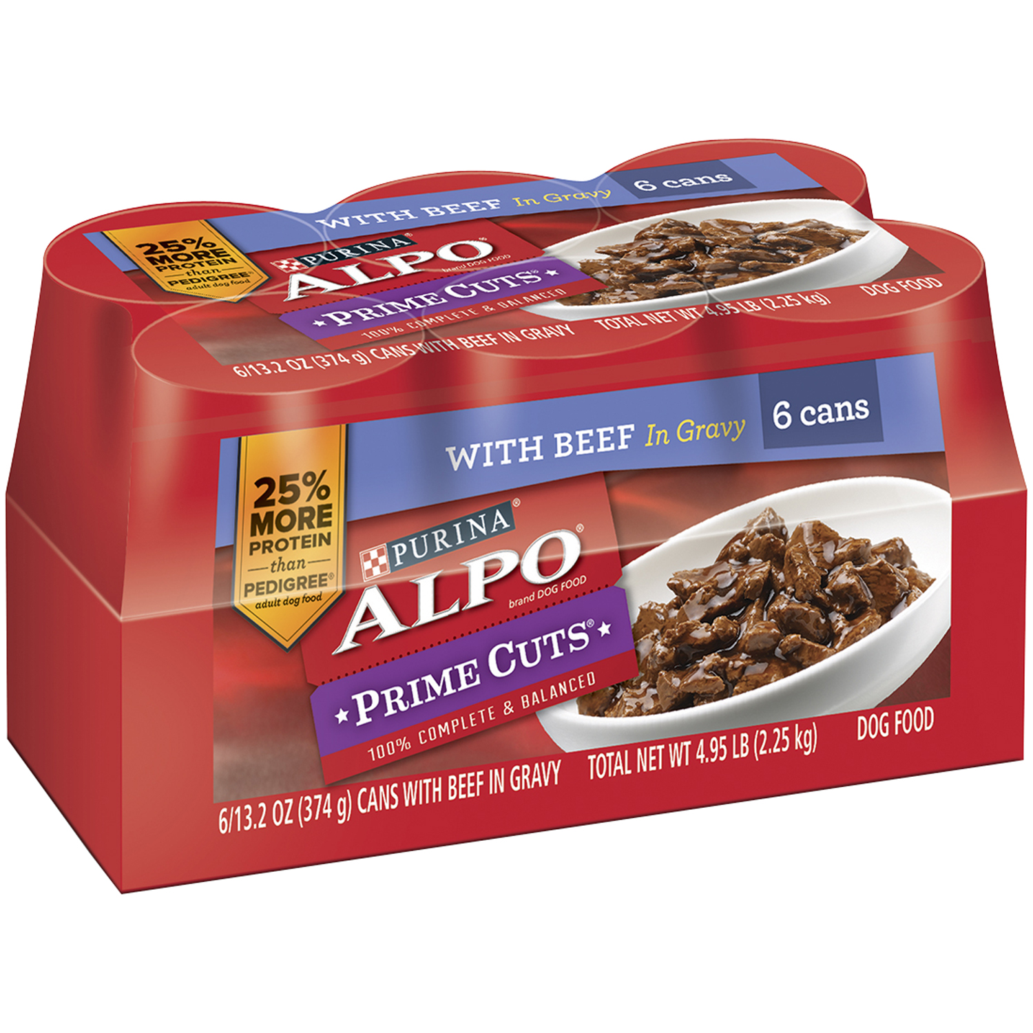 Purina ALPO Prime Cuts With Beef in Gravy Dog Food 6-13.2 oz. Cans