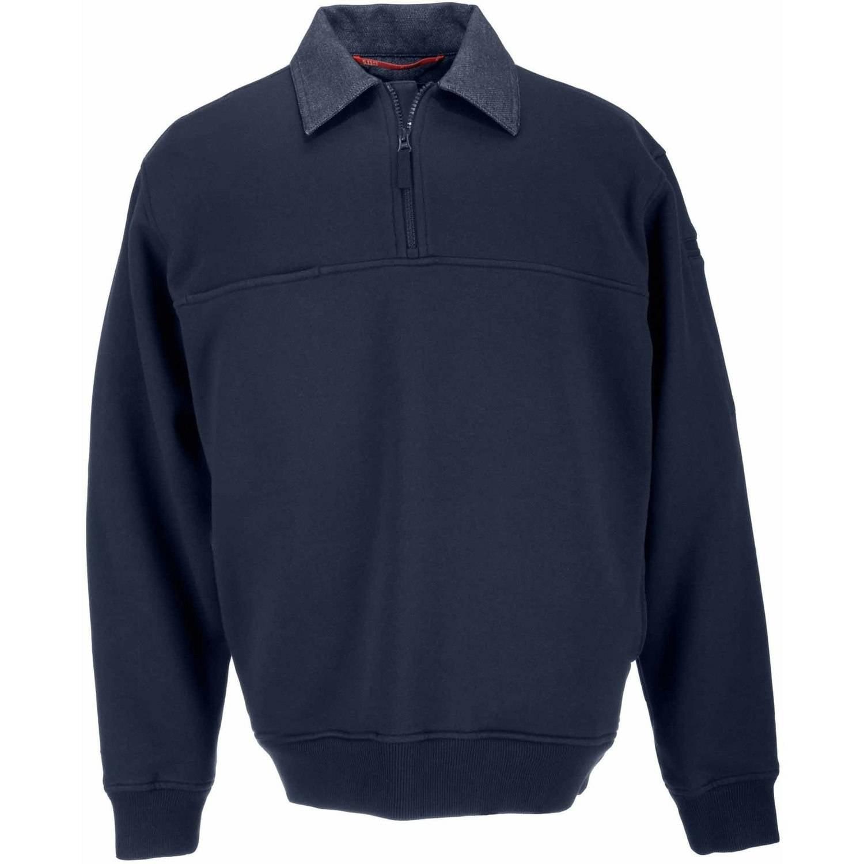 Job Shirt with Denim Details, Fire Navy