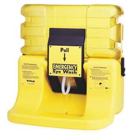 Bradley 7 gal. Capacity, Eye Wash Station, Yellow S19-921